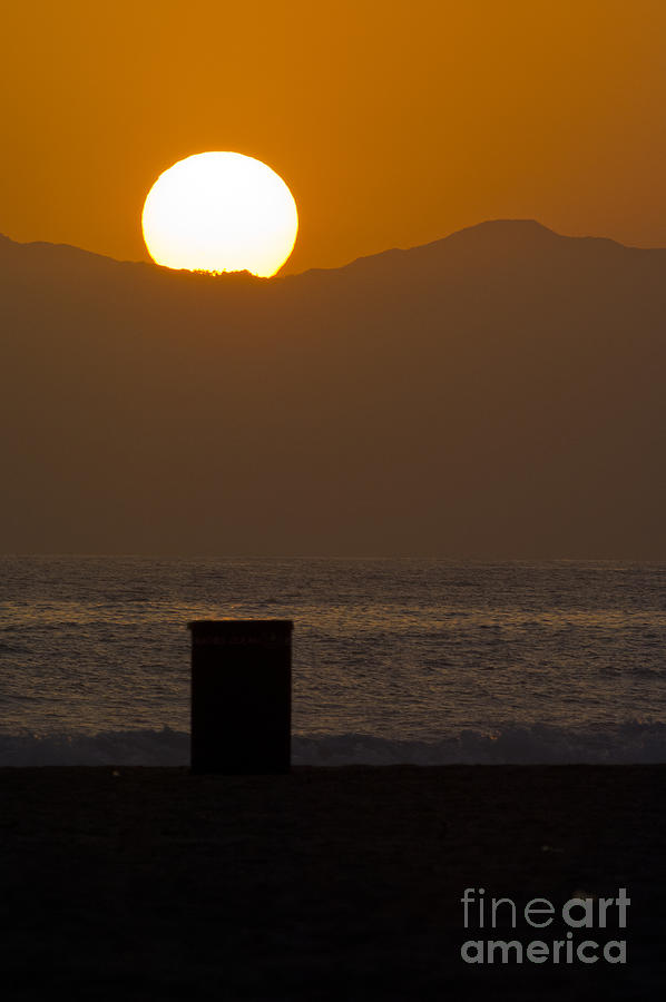 Sunset Photograph - Sunst Over Malibu  by Micah May
