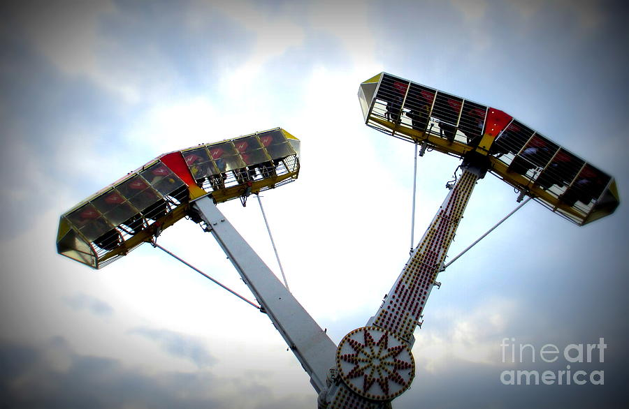 Amusement Park Photograph - Superflyer by Maria Scarfone