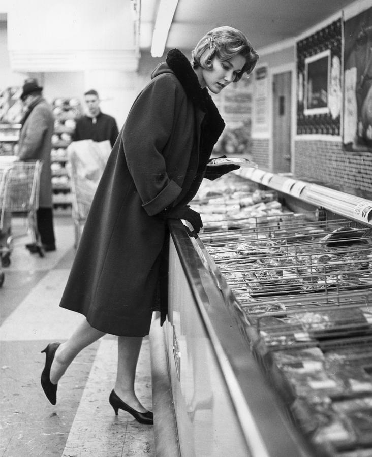 Adults Only Photograph - Supermarket Shopper by Hill Photographers/Archive Photos