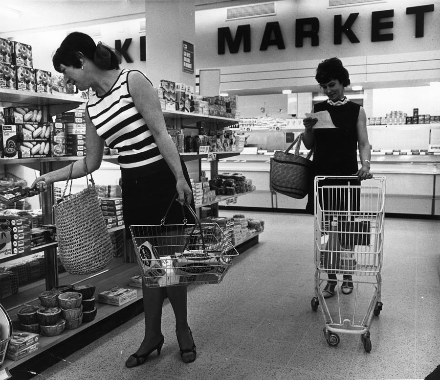 Adults Only Photograph - Supermarket Shopping by V Thompson