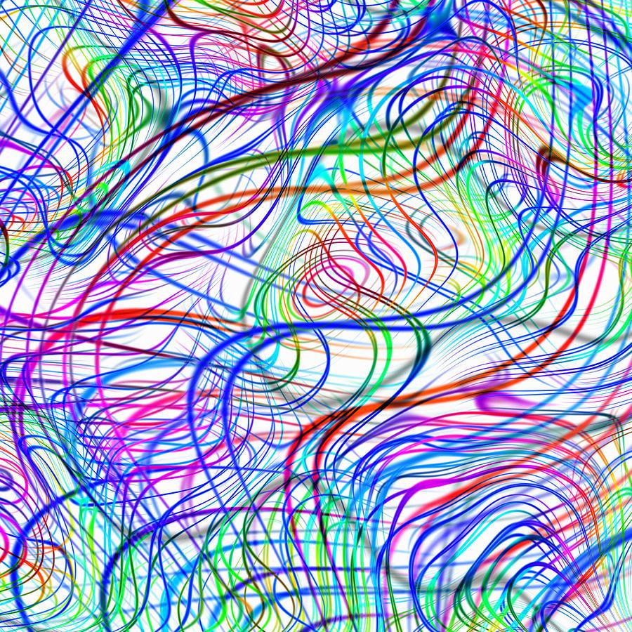Quantum Mechanics Photograph - Superstrings, Conceptual Artwork by Mehau Kulyk