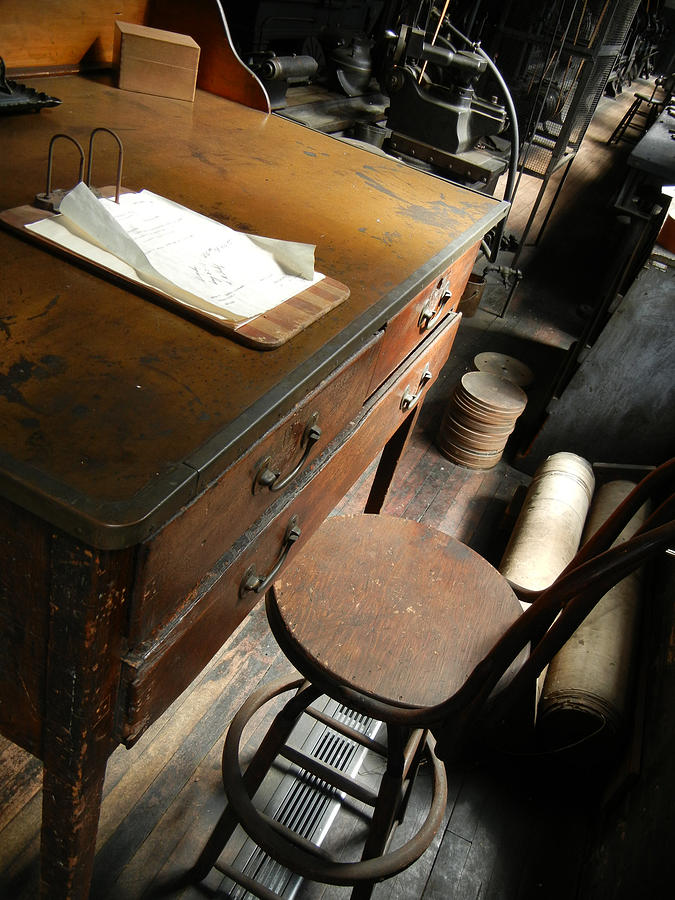 Old Photograph - Supervisors Desk by Jackie Stier