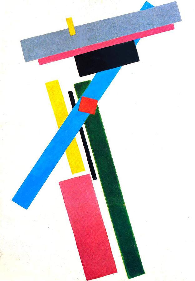 Suprematism ;suprematist; Abstract; Composition; Geometric; Cutout; Copyspace; Colourful; Oblong; Oblongs; Rectangle; Rectangles Painting - Suprematism by Kazimir Severinovich Malevich