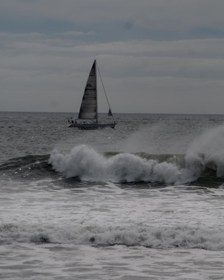 Surf Photograph - Surf And Sail by Barry Doherty