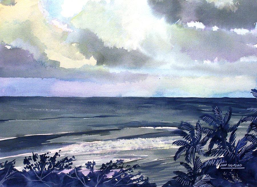 Surf Breaking Painting by Jon Shepodd
