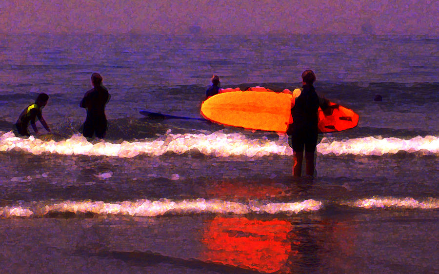 Carpinteria Photograph - Surf Lessons by Ron Regalado