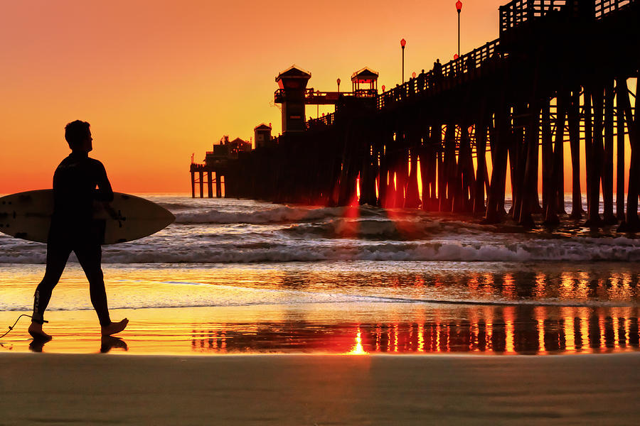 Beach Photograph - Surf Session At Sunset by Donna Pagakis