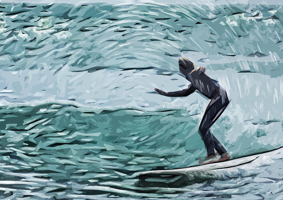 Surfer Dude Photograph - Surf by Tilly Williams
