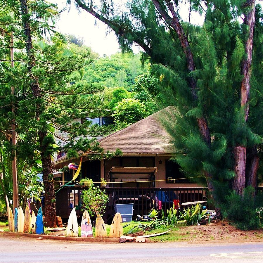surfer house near north shore oahu photograph by gwenn dunlap rh fineartamerica com North Shore Surf Girls Pipeline Surf