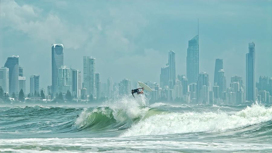 Horizontal Photograph - Surfers Paradise by Thomas Kurmeier