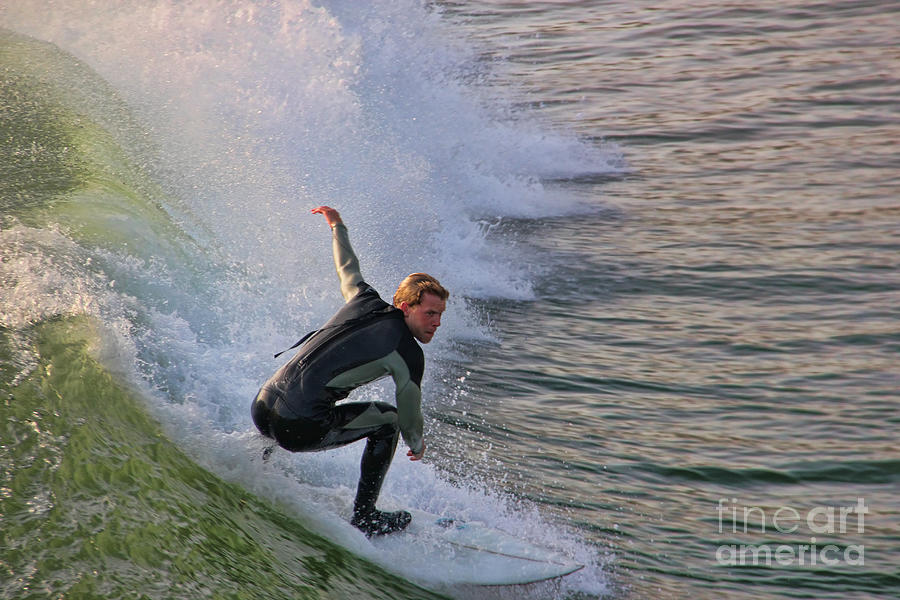Surfing Photograph - Surfin The Wave by Mariola Bitner
