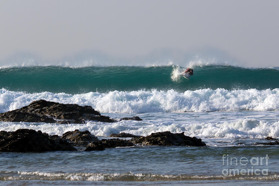 North Coast Photograph - Surfing In Cornwall by Brian Roscorla