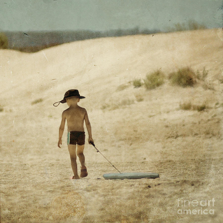 Toddler Photograph - Surfs Out For Summer by Paul Grand