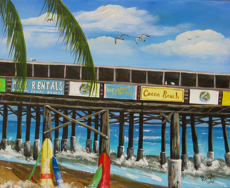 Surf Boards Painting - Surfs Up by Bruce Reigle