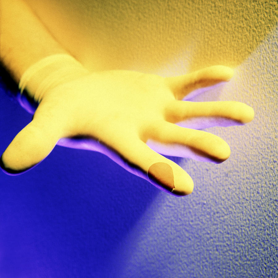 Equipment Photograph - Surgical Glove by Johnny Greig