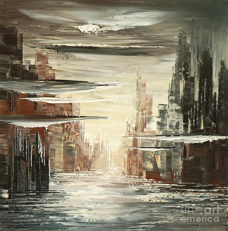 Surreal Sidelines Painting by Tatiana Iliina