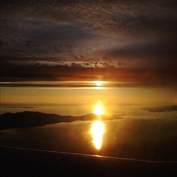 Utah Photograph - Surreal Sunset Over Salt Lake by Brandon Erickson