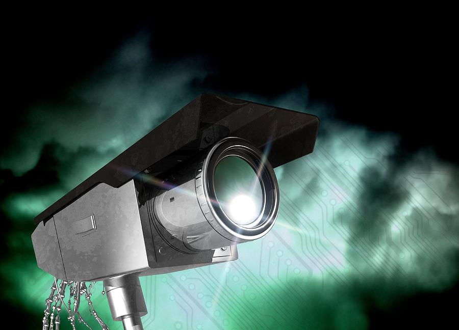 Equipment Photograph - Surveillance, Conceptual Image by Victor Habbick Visions