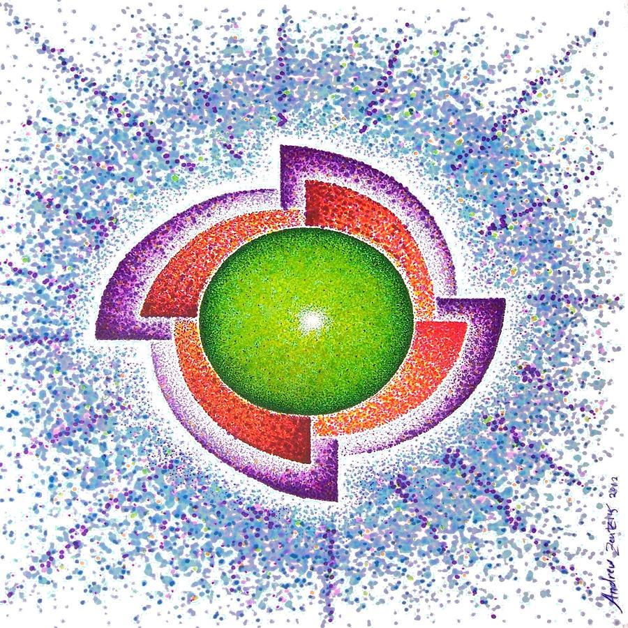 Mandala Drawing - Suspended Vails Mandala  by Andrew Zeutzius