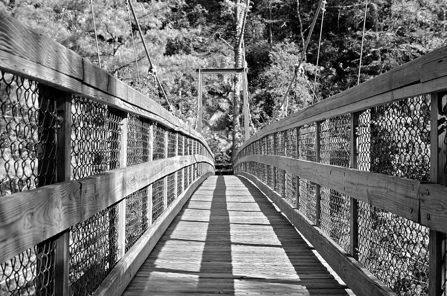 Bridge Photograph - Suspension Bridge by Susan Leggett