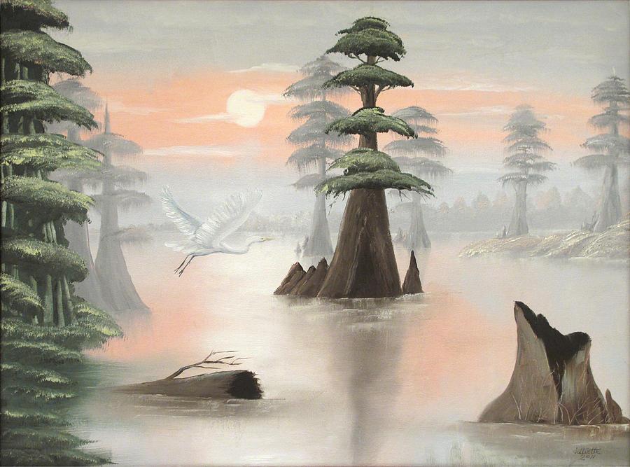 Landscape Painting - Sweeping Through Henderson Swamp by Julliette Salter