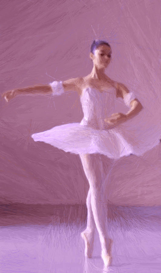 Sweet Ballerina Painting by Steve K