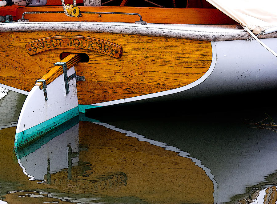 Boat Photograph - Sweet Journey by Michael Friedman