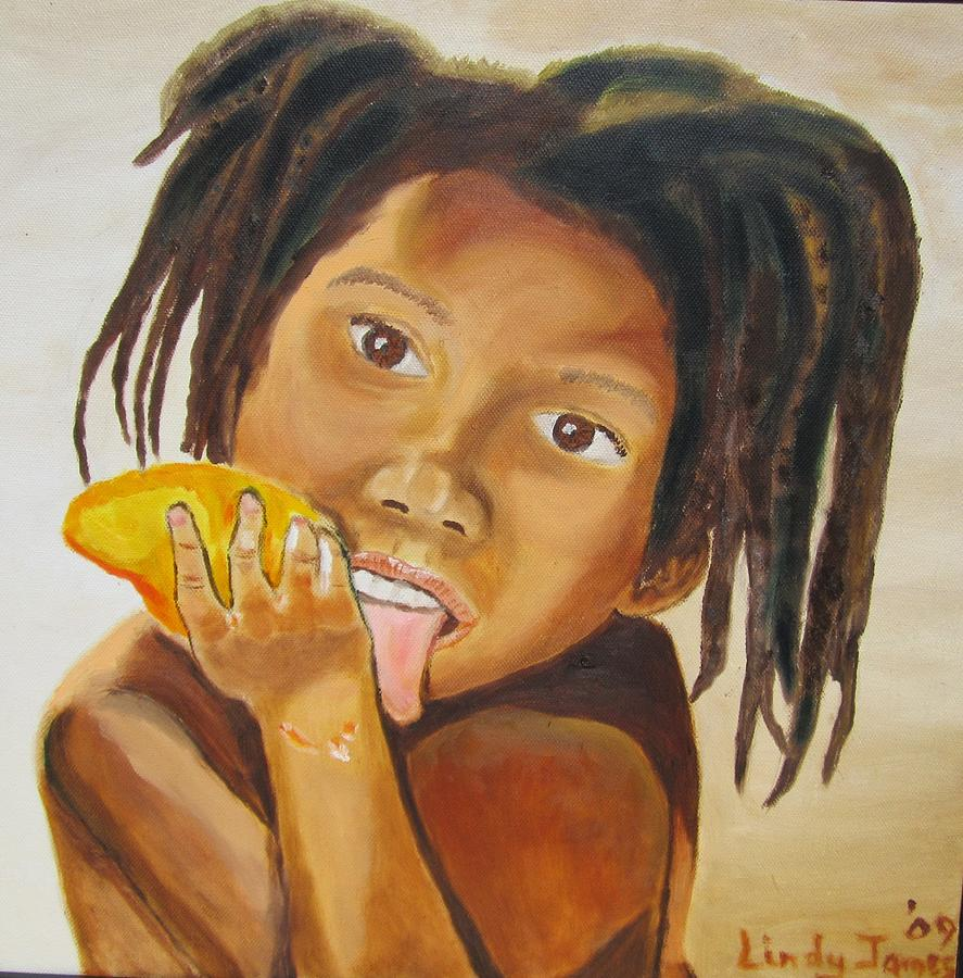 Child Painting - Sweet Mango by Jennylynd James