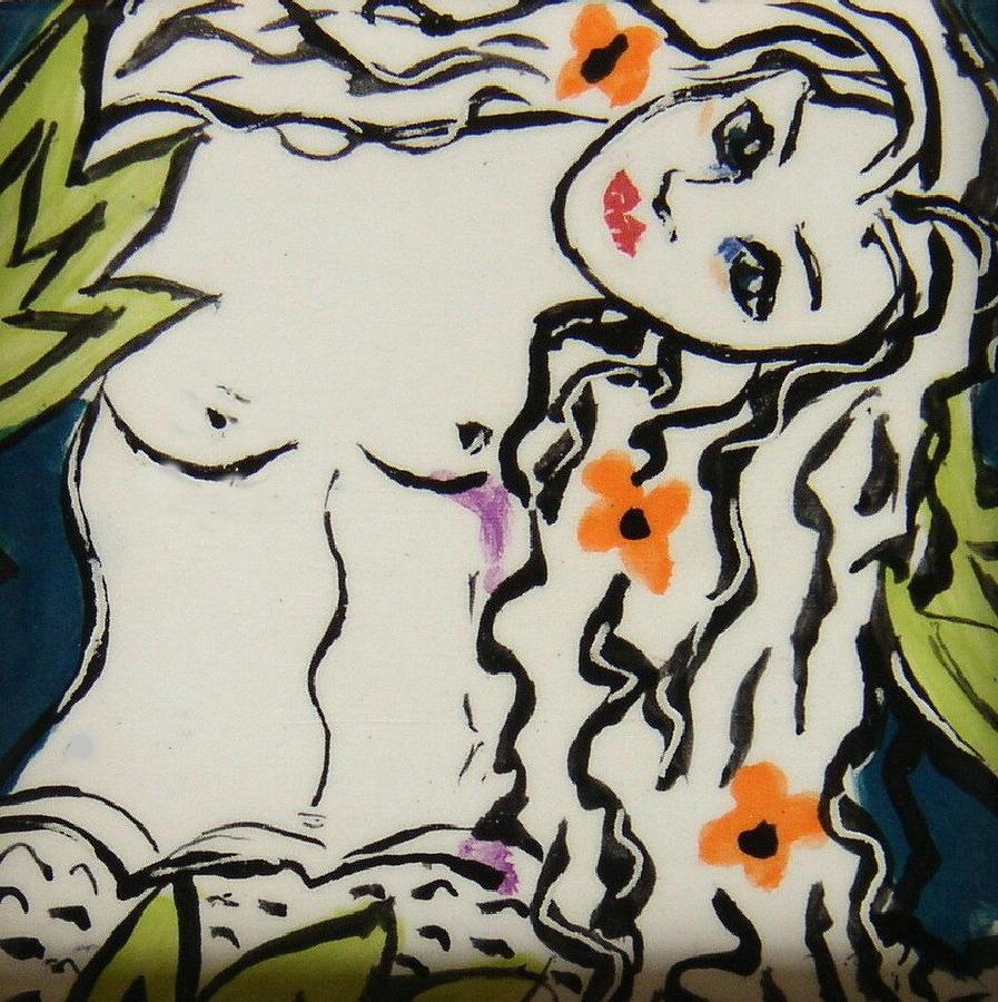 Mermaid Ceramic Art - Sweet Mermaid by Patricia Lazar