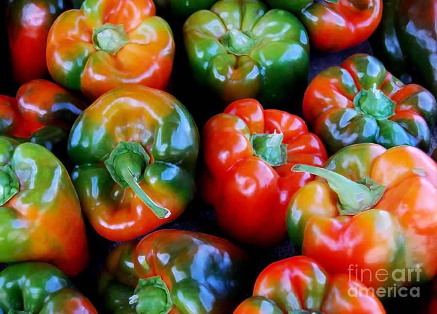 Pepper Photograph - Sweet Peppers by Guy Harnett