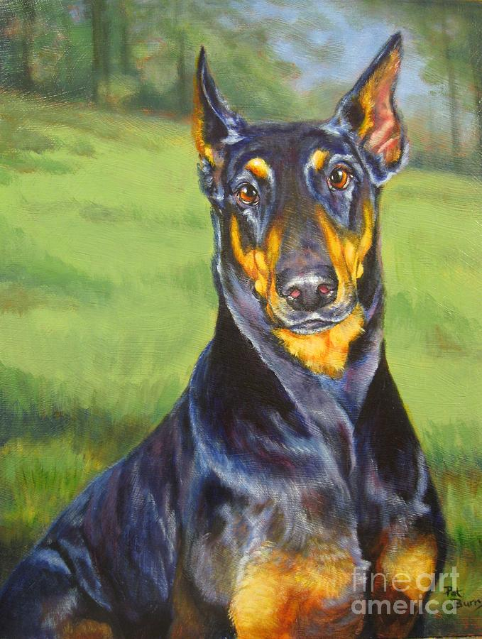 Dog Painting - Sweet Protection by Pat Burns