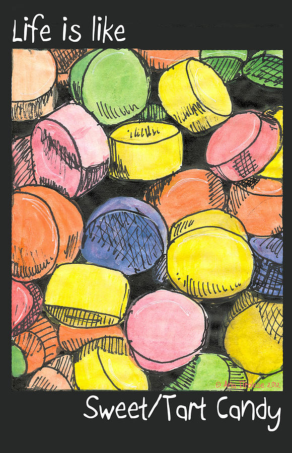 Candy Drawing - Sweet Tart Candy by Ana Tirolese