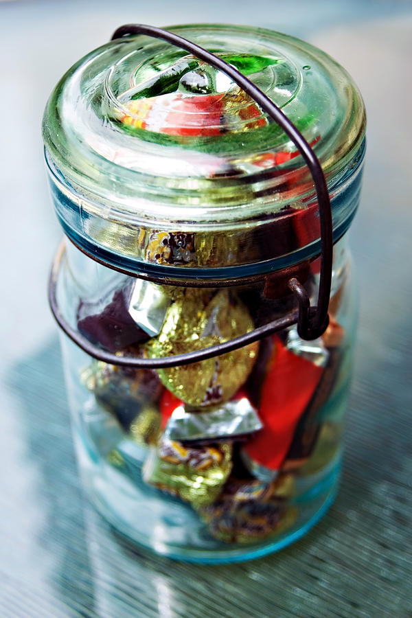 Jar Photograph - Sweet Tooth by Susan Leggett