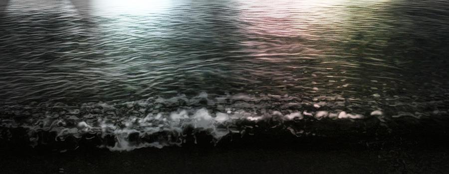 Water Digital Art - Swim by Janet Kearns