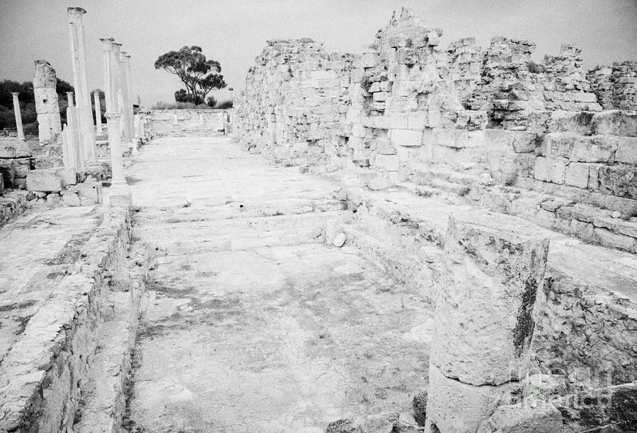 Turkish Photograph - Swimming Pools In The Gymnasium And Baths In The Ancient Site Of Old Roman Villa Salamis by Joe Fox