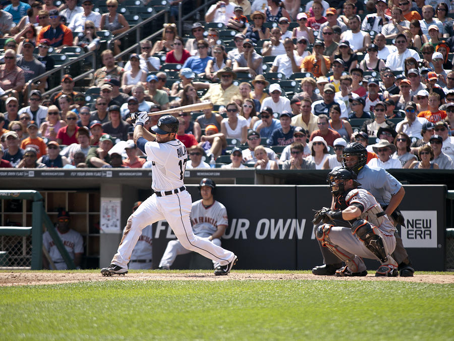 Alex Avila Photograph - Swing And Hit by Cindy Lindow