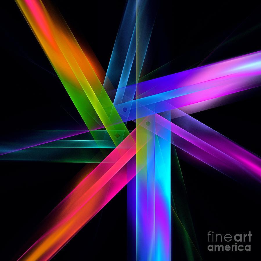 Fractal Digital Art - Swing by Klara Acel