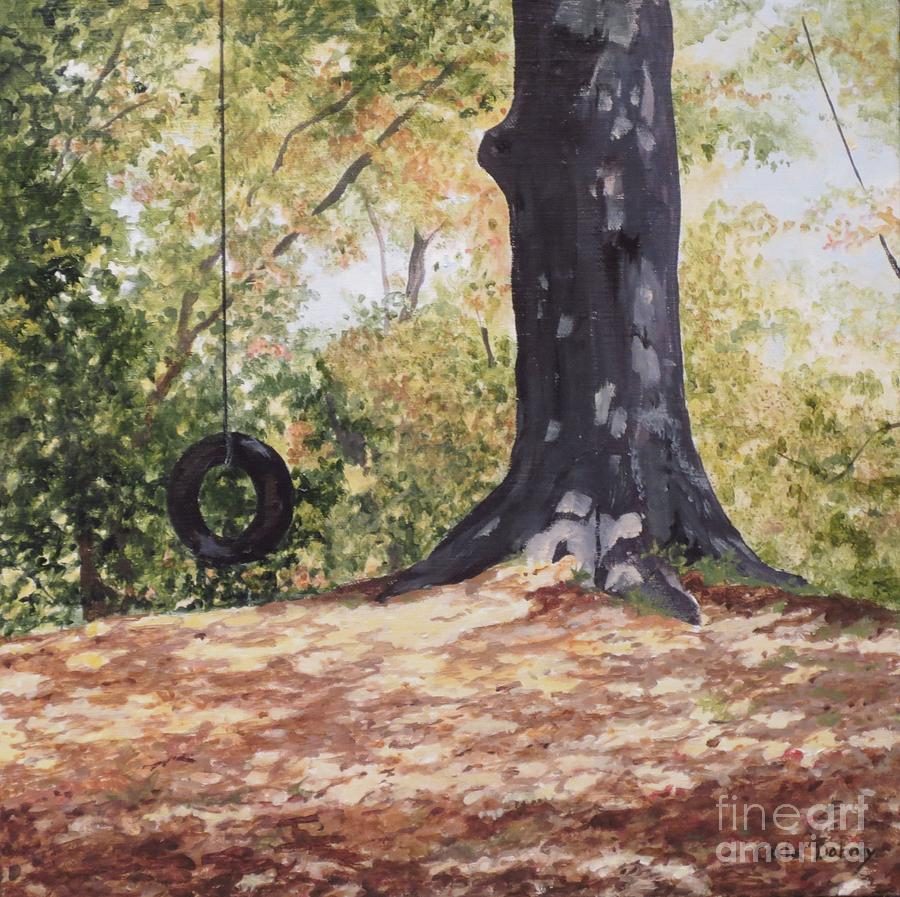 Swing Painting - Swing Time by Carla Dabney