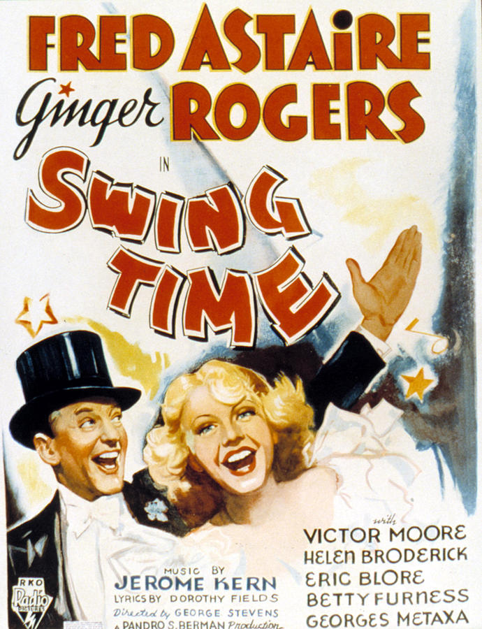 Swing time Fred Astaire vintage movie poster print