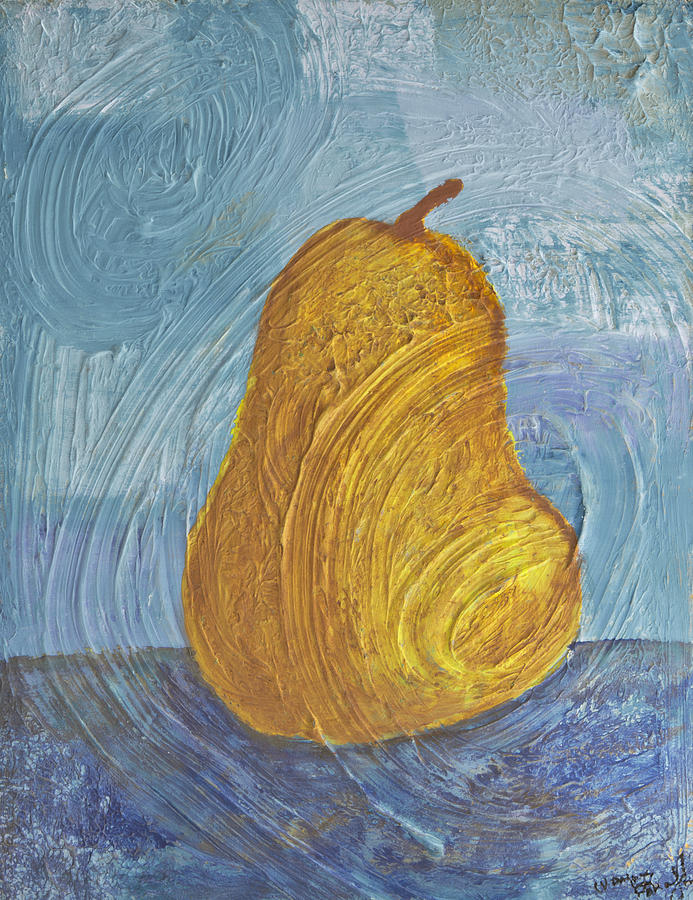 Pear Painting - Swirling Pear by Wayne Potrafka