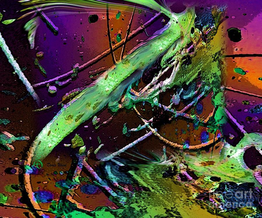 Abstarct Digital Art - Swirls Number 2 by Doris Wood