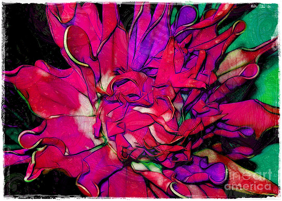 Fabric Photograph - Swirly Fabric Flower by Judi Bagwell