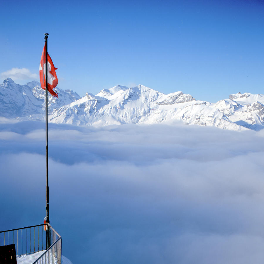 Square Photograph - Swiss Alps Panorama by Image by Christian Senger
