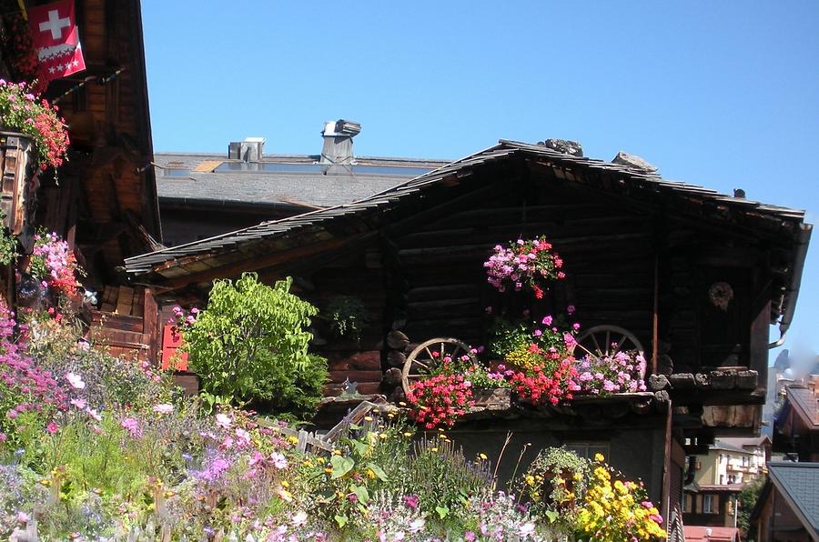 Europe Photograph - Swiss Chalet Interlaken by Marilyn Dunlap