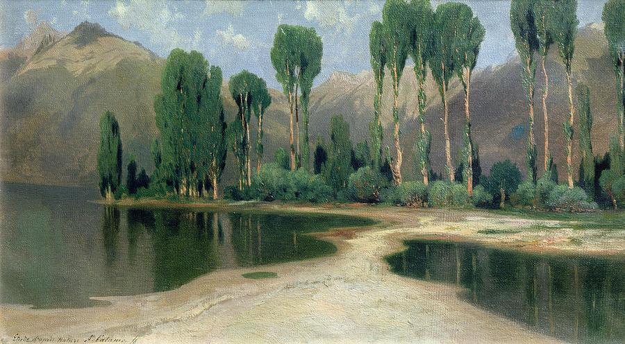 Swiss Landscape Painting - Swiss Landscape by Alexandre Calame