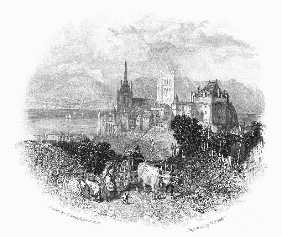 1833 Photograph - Switzerland: Lausanne by Granger