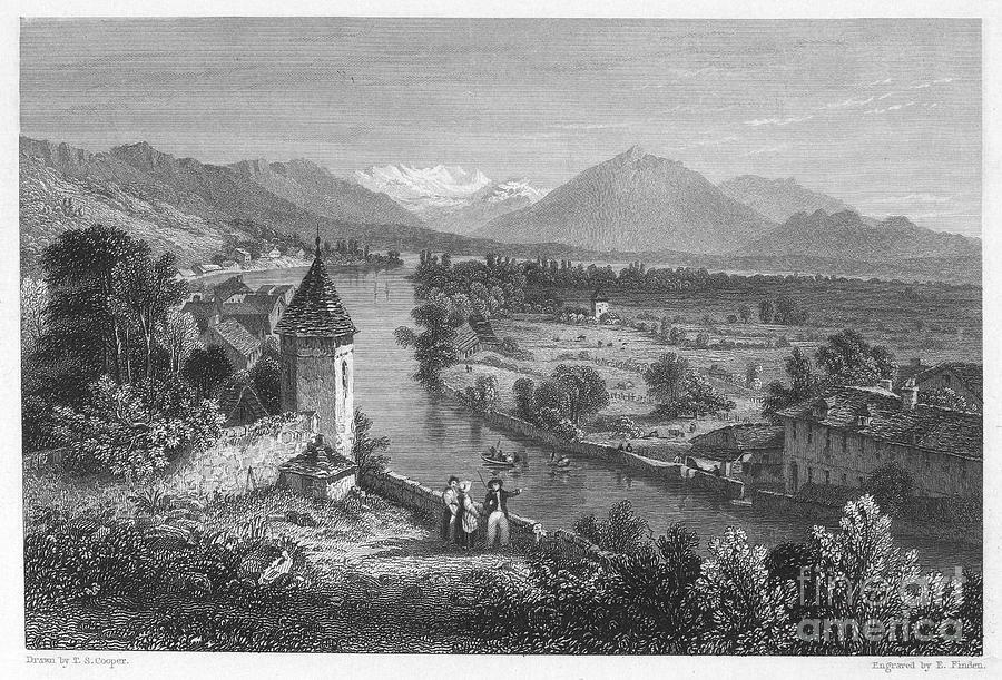 1833 Photograph - Switzerland: Thun, 1833 by Granger