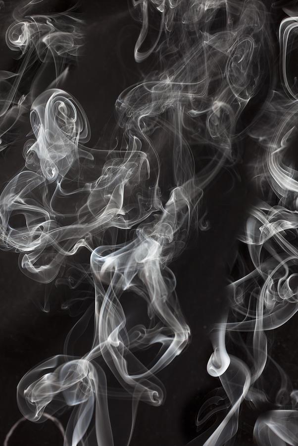Swirl Photograph - Swriling Smoke  by Garry Gay