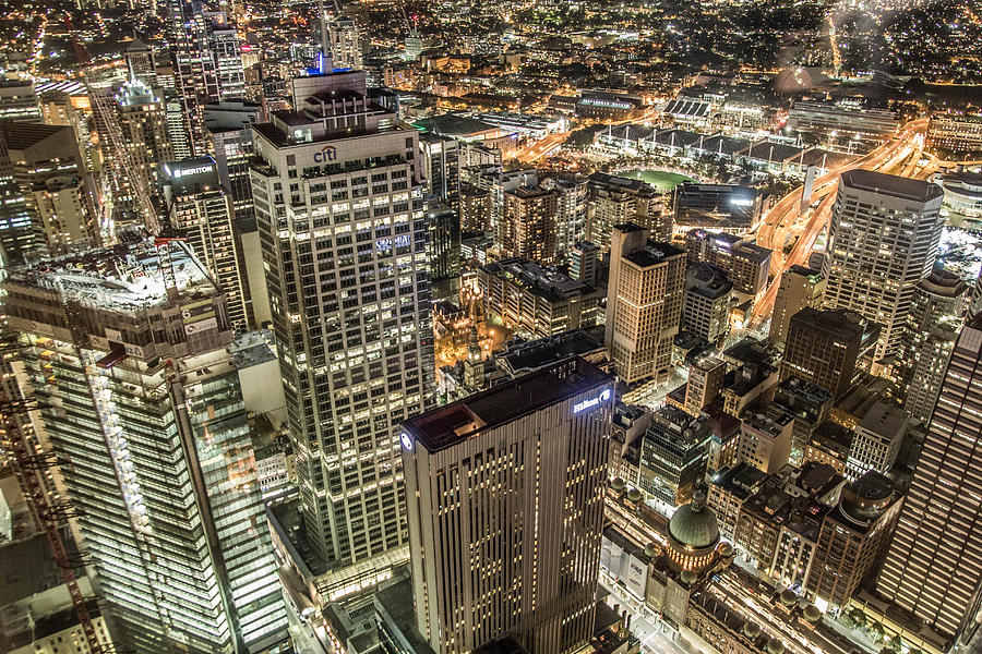 Sydney At Night Photograph by Andy Nguy