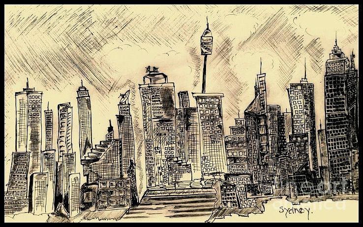 City Drawing - Sydney. by Deepak Kodapally